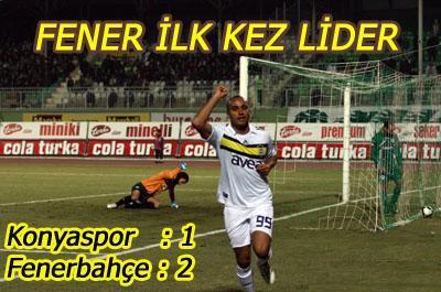 Fenerbahçe Konya'dan Lider Ayrıldı.