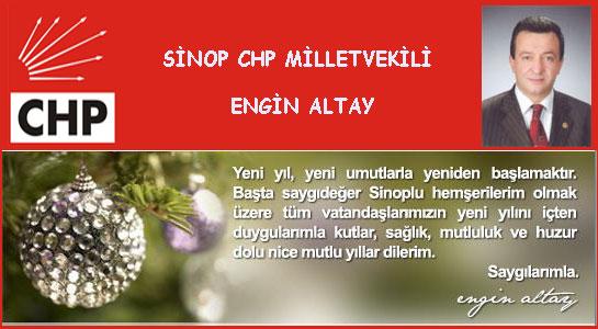 Milletvekili Engin Altay'ın Yeni Yıl Mesajı