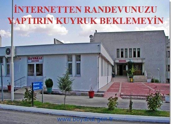 Boyabat Devlet Hastanesin'de İnternetten Randevu