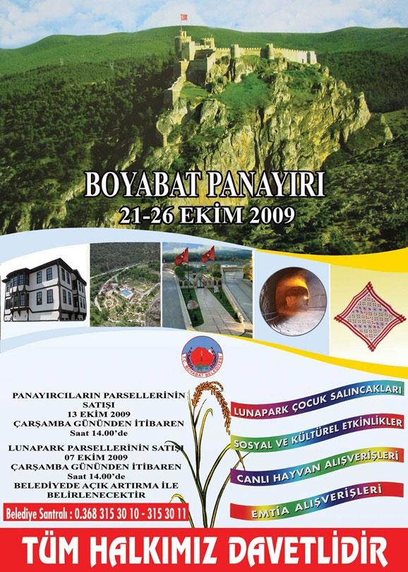Boyabat Panayırı 21 Ekim'de Başlıyor.