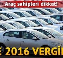 2016 Yılında Ödenecek Motorlu Taşıtlar Vergisi ve Diğer Vergilerin Miktarı